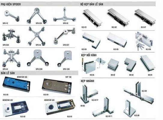 Phụ kiện cửa kính cường lực bao gồm những bộ phận gì?